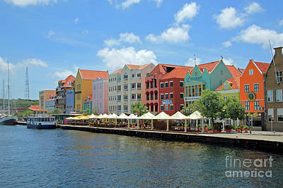 Going Green - Colorful houses of Curacao July by Adriana Zoon