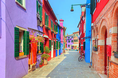 Photograph - Colorful Houses On Burano Island by Michal Bednarek