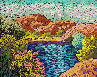 Wall Art - Pastel - Colorful Hueco Tanks by Candy Mayer
