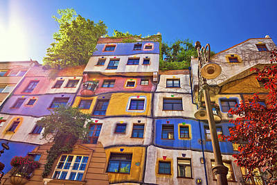Photograph - Colorful Hundertwasserhaus Architecture Of Vienna View by Brch Photography