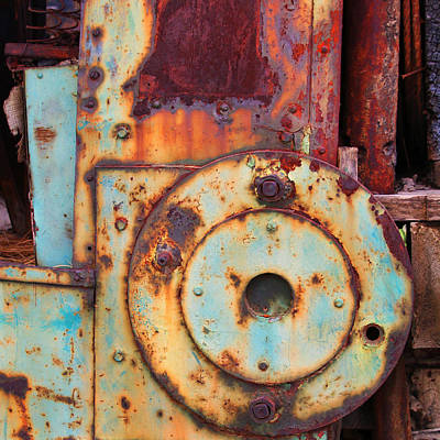 Colorful Industrial Plates Art Print