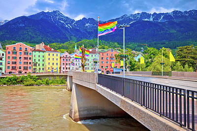Photograph - Colorful Innsbruck Architecture And Inn River View by Brch Photography