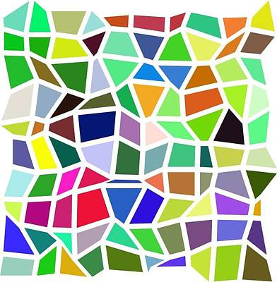 Colorful Irregular Mosaic Art Print by Karolina Perlinska