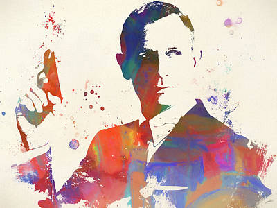 Painting - Colorful James Bond Paint by Dan Sproul