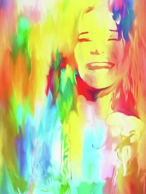Colorful Janis Art Print