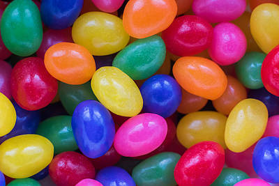 Photograph - Colorful Jelly Beans by Terry DeLuco