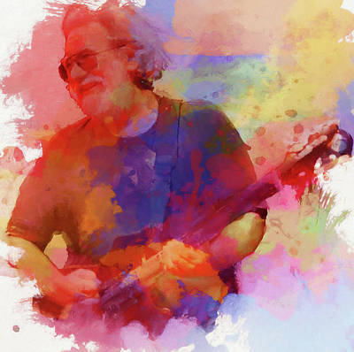 Counterculture Painting - Colorful Jerry Garcia by Dan Sproul