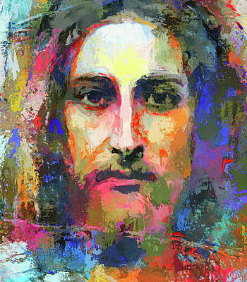 Digital Art - Colorful Jesus by Yury Malkov