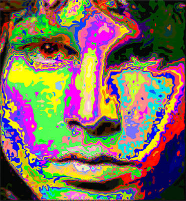 Painting - Colorful Jim Morrison by Samuel Majcen