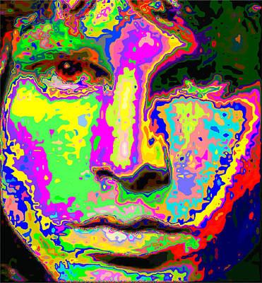Painting - Colorful Jim Morrison by Samuel Majcen