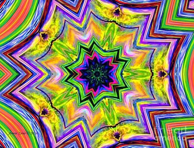 Digital Art - Colorful  Kaleidoscope Art Design by Annie Zeno