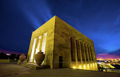 Photograph - Colorful Kansas City War Memorial At Dusk by Gregory Ballos