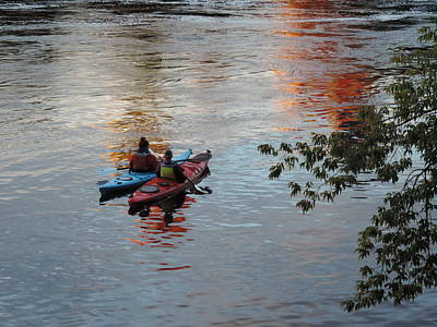 Photograph - Colorful Kayaking by Bill Tomsa