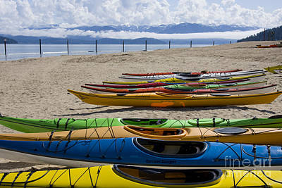 Photograph - Colorful Kayaks by Idaho Scenic Images Linda Lantzy
