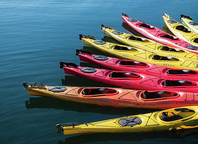 Photograph - Colorful Kayaks by Lee Coursey