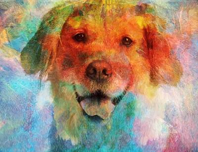 Puppy Mixed Media - Colorful Lab by Dan Sproul