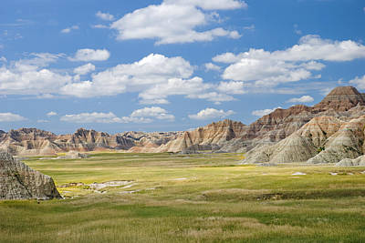 Colorful Landscape In Badlands National Art Print by Philippe Widling