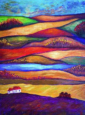 Painting - Colorful Landscape by Lilia D