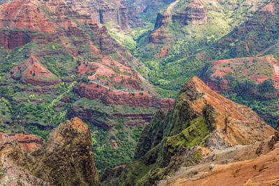 Photograph - Colorful Landscape Of Waimea Canyon by Pierre Leclerc Photography