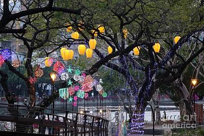 Photograph - Colorful Lanterns At The 2015 Lantern Festival In Taiwan by Yali Shi