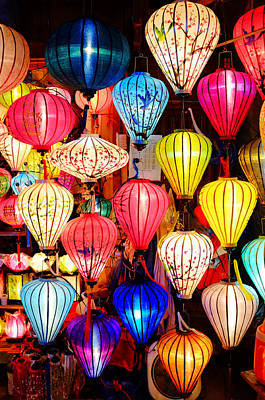 Photograph - Colorful Lanterns by Fabrizio Troiani