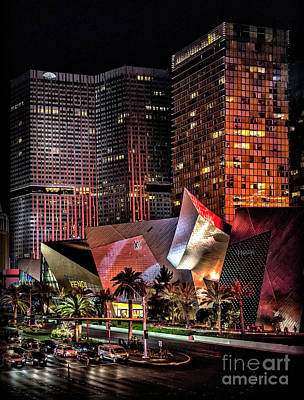 Photograph - Colorful Las Vegas Evening Street Scene by Walt Foegelle