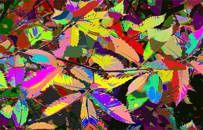 Painting - Colorful Leaves by Samuel Majcen