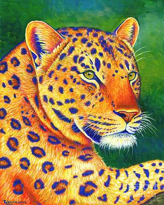 Colorful Leopard Portrait Art Print