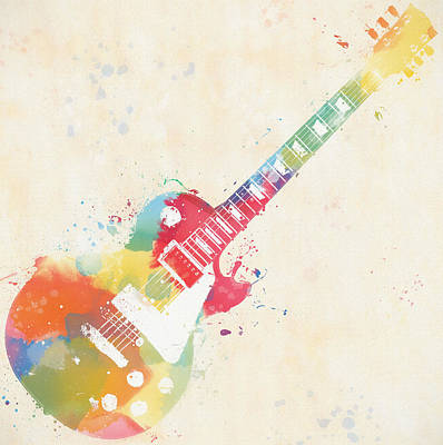 Photograph - Colorful Les Paul by Dan Sproul