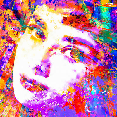 Audrey Hepburn Mixed Media - Colorful Life - Audrey Hepburn by Stacey Chiew