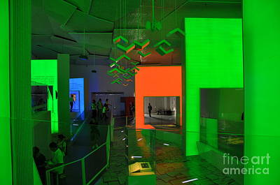 Expo Shanghai Photograph - Colorful Light In An Exhibit Hall by Leanne Lei
