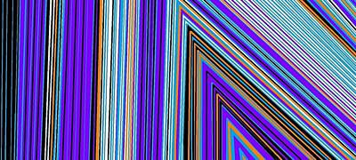 Digital Art - Colorful Lines by Linda Velasquez