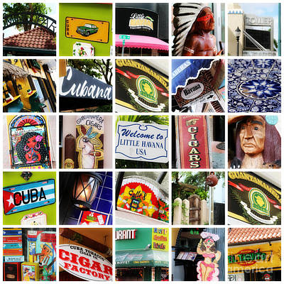 Photograph - Colorful Little Havana Collage by Carol Groenen