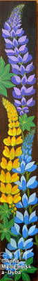 Folkartanna Painting - Colorful Lupines by Anna Folkartanna Maciejewska-Dyba