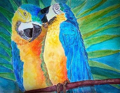 Painting - Colorful Macaws by Anne Sands