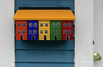 Photograph - Colorful Mailbox by Les Palenik