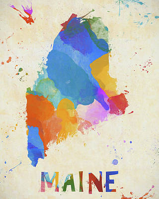 Painting - Colorful Maine by Dan Sproul