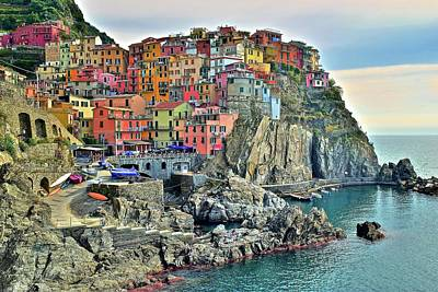 Photograph - Colorful Manarola In The Cinque Terre by Frozen in Time Fine Art Photography