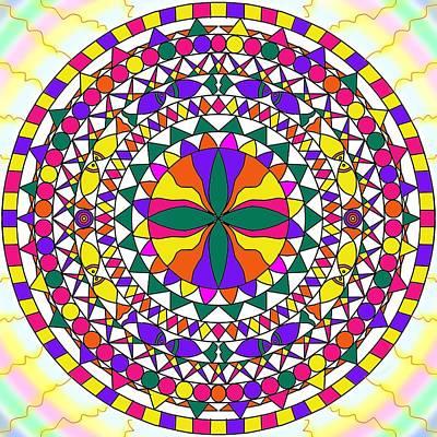 Painting - Colorful Mandala by Pratyasha Nithin