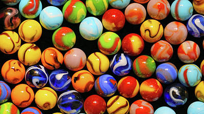 Photograph - Colorful Marbles 071518 by Mary Bedy