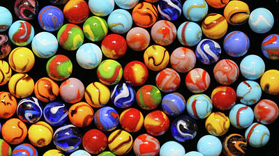 Photograph - Colorful Marbles 2 071518 by Mary Bedy
