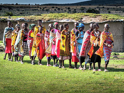 Photograph - Colorful Maasai Ladies by Robin Zygelman
