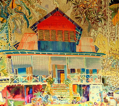 Photograph - Colorful Mauritiun Cottage by John Potts