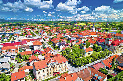 Photograph - Colorful Medieval Town Of Krizevci Aerial View by Brch Photography