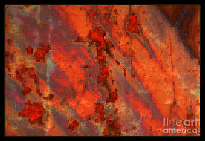 Colorful Metal Abstract With Border Art Print by Carol Groenen