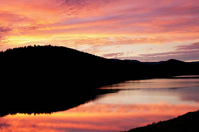 Photograph - Colorful Midsummer Sunset by Alan L Graham