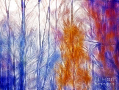 Transylvania Digital Art - Colorful Misty Forest  by Odon Czintos