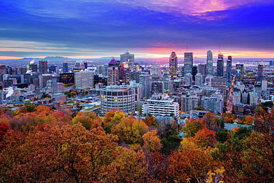 Art Print featuring the photograph Colorful Montreal  by Mircea Costina Photography