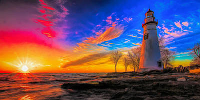 Painting - Colorful Morning At Marblehead by Dan Sproul