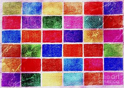 Digital Art - Colorful Mosaic by Erika H